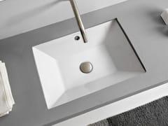 Lavabo da incasso sottopiano rettangolare in ceramicaTEOREMA 2.0 | Lavabo da incasso sottopiano - SCARABEO CERAMICHE