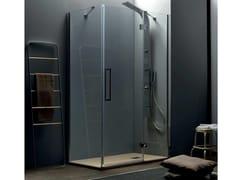 Box doccia angolare con porta a battenteTEPB43 + TELF | Box doccia angolare - TAMANACO