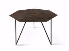 Tavolino basso laccato in ferro TERRA | Tavolino - Objectives