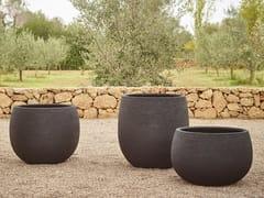 Vaso da giardino basso in metalloTERRA | Vaso da giardino basso - JARDINICO