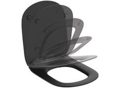 Sedile wc ammortizzatoTESI MATT BLACK - T3527V3 - IDEAL STANDARD ITALIA
