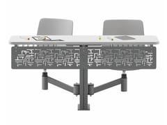 Banco modulare in laminato con sedie integrateTETRIS - ERSA MOBILYA