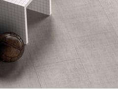 Pavimento/rivestimento in gres porcellanato effetto tessutoTEXTILE EXTRA SILVER - CERAMICHE MARCA CORONA
