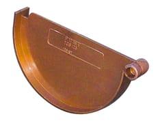 Accessorio per canale di gronda effetto ramato TGS125R - First Plast