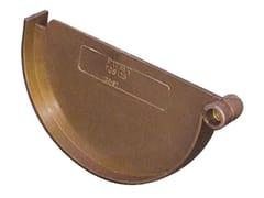 Accessorio per canale di gronda effetto ramato antico TGS125RA - First Plast