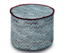 Pouf cilindro in tessuto jacquard double-face THAILAND | Pouf - Copper Geranium