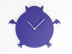 Orologio in cartone da parete con valigetta THE VIOLET BAT -