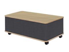 Tavolino basso in feltro in stile moderno con ruoteTHE CATCHER | Tavolino rettangolare - ASKIA