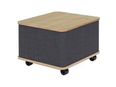 Tavolino basso in feltro con ruoteTHE CATCHER | Tavolino quadrato - ASKIA
