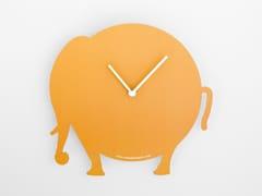 Orologio in cartone da parete con valigettaTHE ORANGE ELEPHANT - ROUND ANIMALS DESIGN