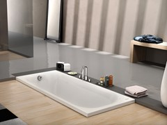 Vasca da bagno rettangolare in acrilico da incasso THE ESSENTIALS | Vasca da bagno da incasso - The Essentials