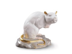 Soprammobile in porcellanaTHE RAT MINI - LLADRÓ