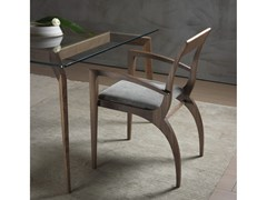 Sedia in legno massello THELMA | Sedia con braccioli -