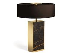 Lampada da tavolo a LED in marmo e metalloTHELMA COUTURE - BLACK TIE