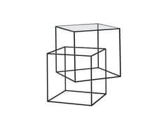 Tavolino in vetroTHIN BLACK TABLE - CAP DESIGN