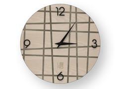 Orologio da parete in legno intarsiato THREE COLD | Orologio - DOLCEVITA LINES