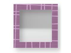 Specchio quadrato da parete con cornice THREE COLORS | Specchio - DOLCEVITA LINES