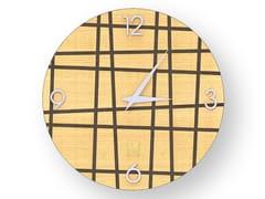 Orologio da parete in legno intarsiatoTHREE WARM | Orologio - LEONARDO TRADE