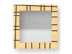 Specchio quadrato da parete con cornice THREE WARM | Specchio - DOLCEVITA LINES