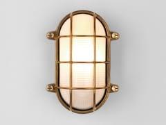 Applique per esterno a LED in ottone e vetroTHURSO OVAL - ASTRO LIGHTING