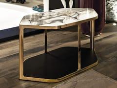 Tavolino alto esagonale con portariviste TILES   Tavolino alto - Loveluxe - Illusion