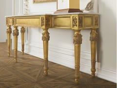 Consolle con cassetti foglia oro e piano in marmoTIMELESS 2540-M - SCAPPINI & C. CLASSIC FURNITURE