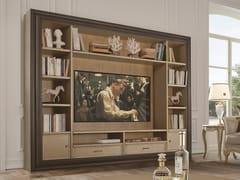 Mobile TV in legno con libreriaTIMELESS 2920 - SCAPPINI & C. CLASSIC FURNITURE
