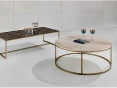 Tavolino rotondo in marmo TIP TAP   Tavolino in ottone - Objects