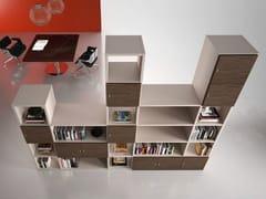 Libreria ufficio modulare in legnoTITANO | Libreria ufficio - CASTELLANI.IT