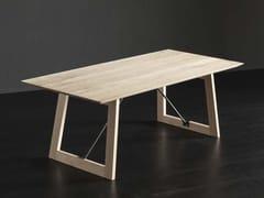 Tavolo da pranzo rettangolare in legno TOLEDO + FLAT/TIRANTI - ECOLAB 2