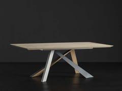 Tavolo da pranzo rettangolare in legno TOLEDO + METAL/LEGNO - ECOLAB 2