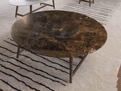 Tavolino rotondo in marmoTOMO | Tavolino in marmo - DÉSIRÉE DIVANI