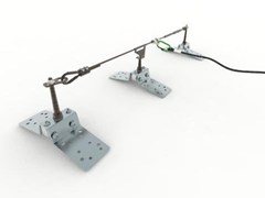 Carpenteria regolabile per ancoraggi di estremità/intermediTOR SAFE RM PAL - BIN SISTEMI