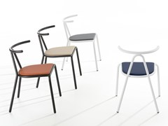 Sedia impilabile con cuscino integratoTORO | Sedia imbottita - B-LINE