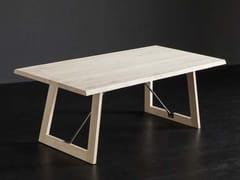 Tavolo da pranzo rettangolare in rovere TORONTO + FLAT / TIRANTI - ECOLAB