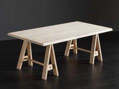 Tavolo da pranzo rettangolare in legno massello TORONTO + HORSE - ECOLAB