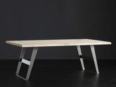 Tavolo da pranzo rettangolare in rovere TORONTO + IRON - ECOLAB