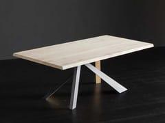 Tavolo rettangolare in rovere TORONTO + METAL/LEGNO - ECOLAB 2