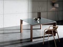 Tavolo quadrato in legno e vetro TORONTO | Tavolo quadrato - Toronto