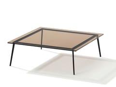 Tavolino da caffè quadrato in vetro colorato TOSCA | Tavolino da caffè -