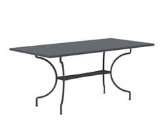 Tavolo da giardino rettangolare in metalloTOSCA | Tavolo rettangolare - VERMOBIL