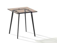 Tavolino di servizio quadrato in vetro colorato TOSCA | Tavolino di servizio -