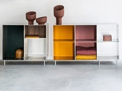 Libreria a giorno modulare in alluminioTOTEM SHELVES AND CABINETS | Libreria modulare - ATELIER BELGE