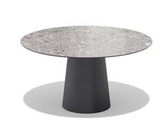 Tavolo da giardino rotondo in ceramicaTOTEM OUTDOOR | Tavolo rotondo - SOVET ITALIA