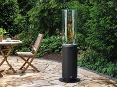 Caminetto freestanding in acciaio inox e vetro a bioetanolo TOWER - SPARTHERM® FEUERUNGSTECHNIK