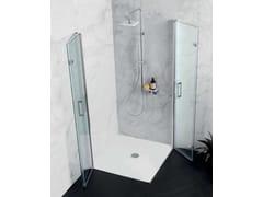 Box doccia angolare con porta a soffiettoTPS35 + TPS35 | Box doccia angolare - TAMANACO