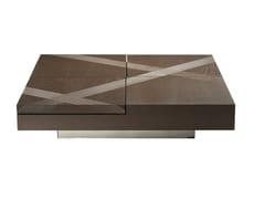 Tavolino basso quadrato in rovereTRACK | Tavolino basso - ROCHE BOBOIS