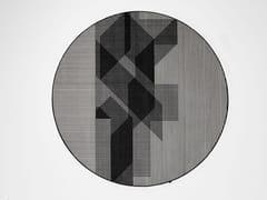 Tappeto rotondo in velluto a righeTRAMATO TR822 - ANTONIO LUPI DESIGN®