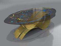 Tavolo in acciaio inox e vetroTRAMONTO LUNARE - TECNOTELAI