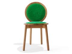 Sedia imbottita in cotone Harald e rovereTRANQUEBAR | Sedia in rovere - CALYAH